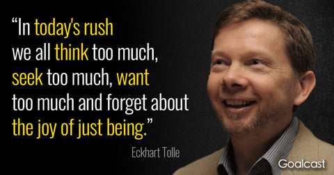 eckhart tolle tips to use for anxiety during hard flaccid