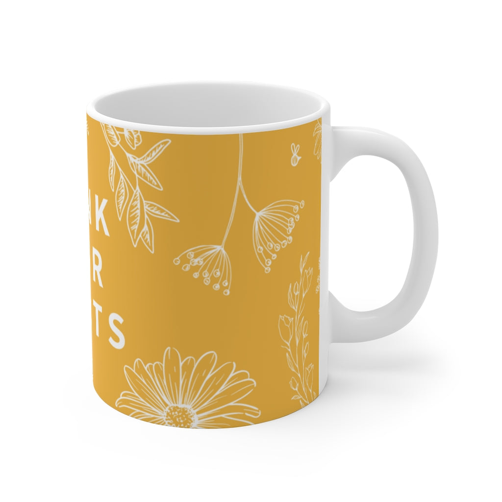 DRINK YOUR PLANTS MUG YELLOW