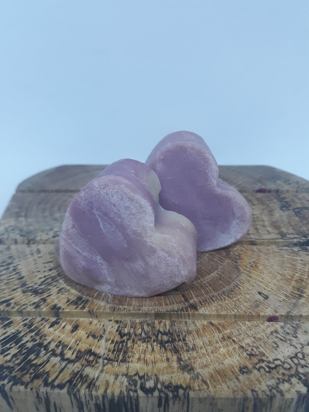Mini Heart Multicolored Lavendar Goat Milk Soap