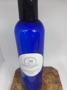 Unscented Goat Milk Lotion 2 oz * Due to Covid bottle shortages color and style may vary
