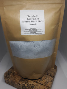 Triple L Peppermint/Tea Tree Detox Bath Salt Large 1 lb size