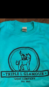 Triple L Glamour Goat Logo Tshirt - Jade Dome (X-LARGE)