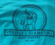 Triple L Glamour Goat Logo Tshirt - Jade Dome (Large)