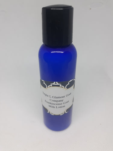 Triple L Frankincense Goat Milk Lotion 2 oz * Due to Covid bottle shortages color and style may vary