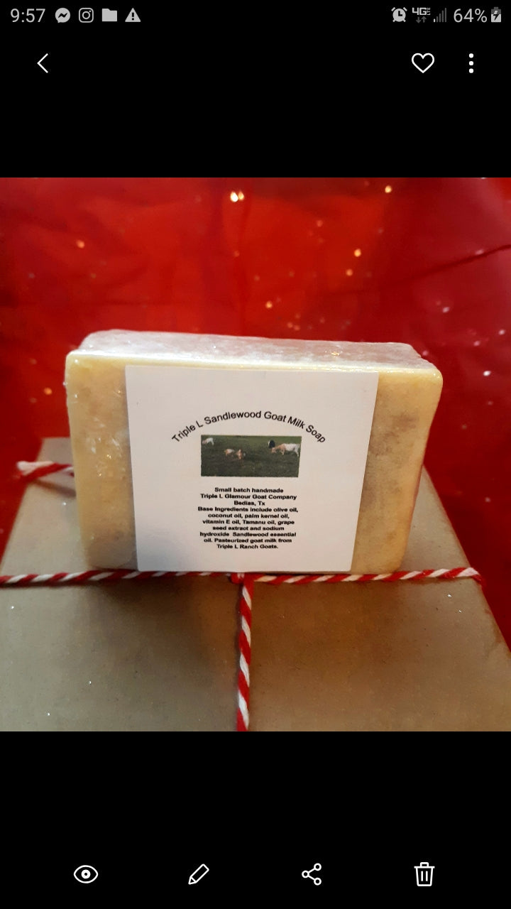 Triple L Sandlewood Goat Milk Soap