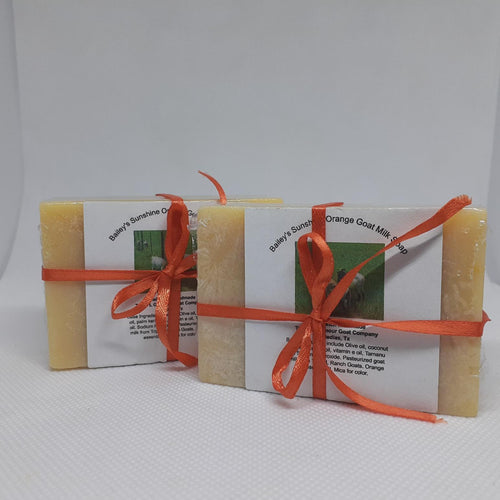 Bailey's Sunshine Orange Goat Milk Soap
