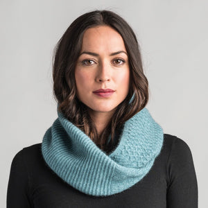Textured Loop Scarf in Mist by Merinomink