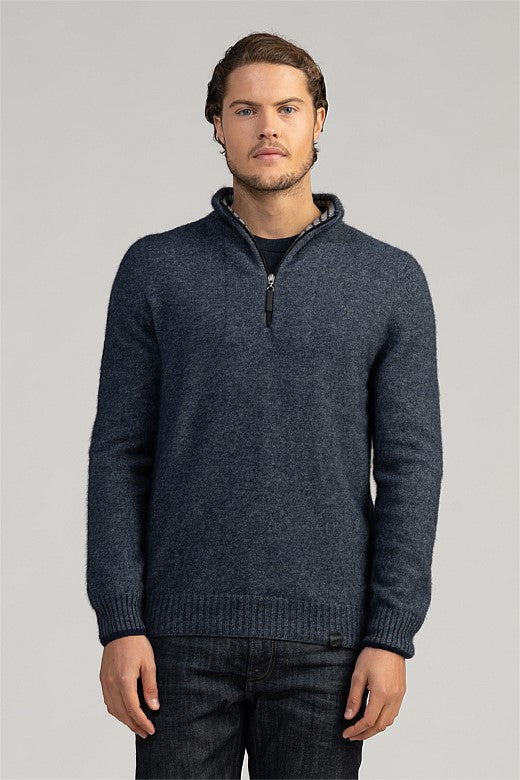 Merinomink Half Zip with Stripes