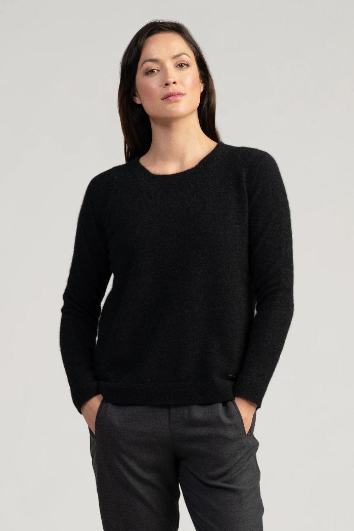 Relaxed Sweater in Jet