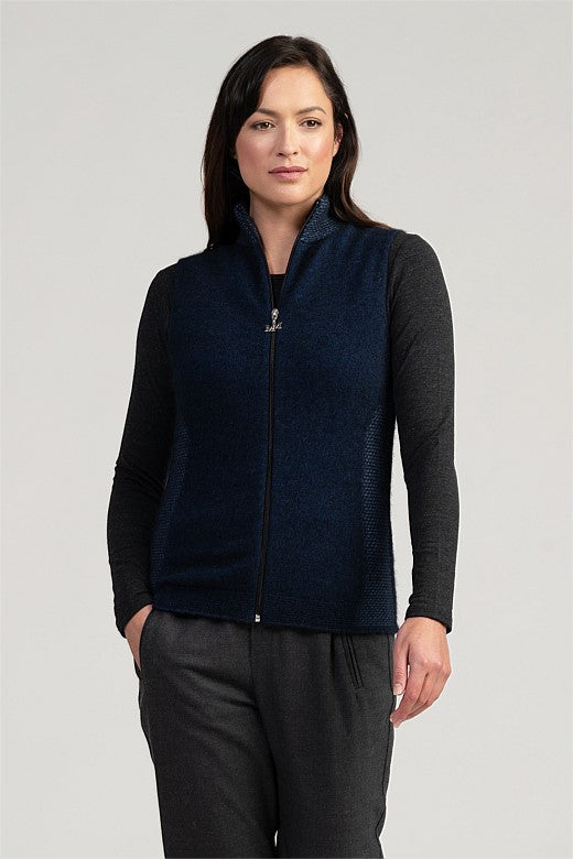 Merinomink Mt Cook Vest in Zephyr