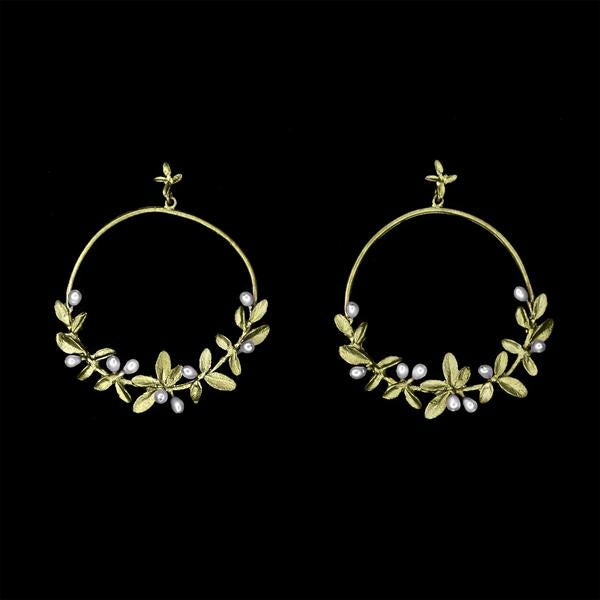 Michael Michaud Flowering Time Hoop Earrings