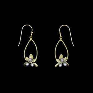 Michael Michaud Flowering Thyme Oval Drop Earrings