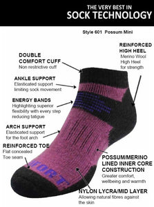 Possum Merino Mini Socks