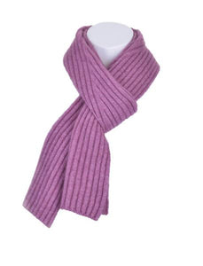 McDonald Possum Merino Diagonal Rib Scarf in Heather