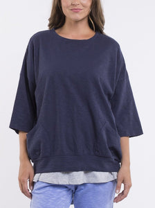 Maizie sweater in Navy by Elm