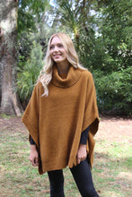 Lush Cowl Neck Poncho in gold by Lothlorian
