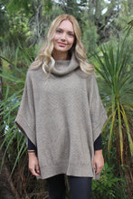 Lush Cowl Neck Poncho in Natural by Lothlorian