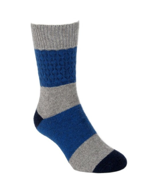 Gecko Possum Merino Socks in Lagoon Blue