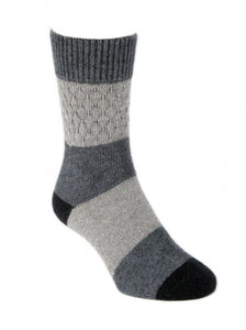 Gecko Possum Merino Socks in Silver