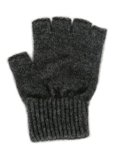 Everyday Possum Merino Fingerless Gloves by Lothlorian in Charcoal