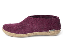 Glerups NZ Leather Sole Shoe in Cranberry