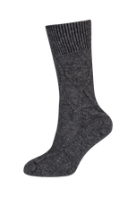 Possum merino Cable socks by Nativeworld in Graphite