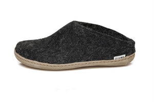 Glerups Leather Sole Slip On in Charcoal