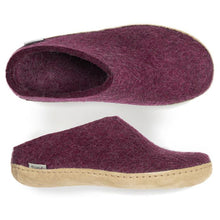 Glerups Leather Sole Slip On in Cranberry