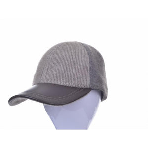 Possum Merino Contrast Panel Cap in Charcoal / Pewter