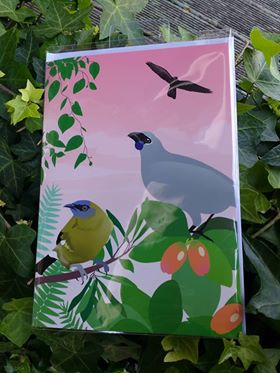 Bird calls sound card NZ native birds