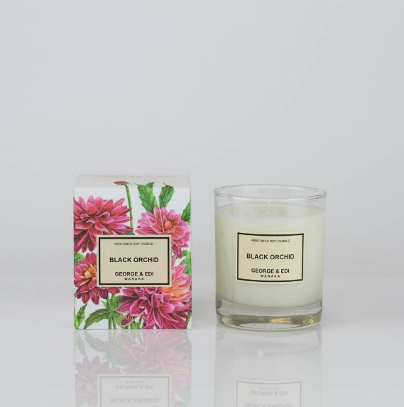 George and Edi Black Orchid Candle