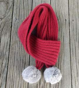 Cottontail possum merino scarf from Cosy Kiwi in Red