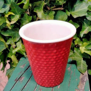 Red dimple Coffe Cup by Daniel Jessep