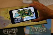 Augmented reality content in The Dragon Hunters by James Russell