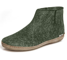 Glerups Felted Wool Boot with Leather Sole - Forest