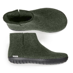 Glerups Rubber Sole Boot in Forest Green