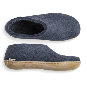Glerups Leather Sole Shoe in Denim