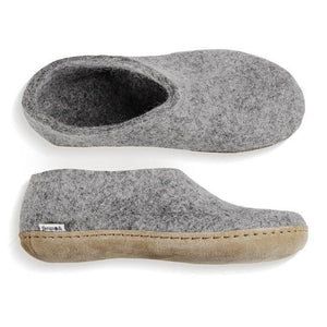 Glerups Leather Sole Shoe in Grey