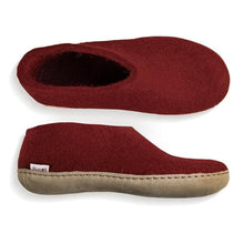 Glerups Leather Sole Shoe in Red
