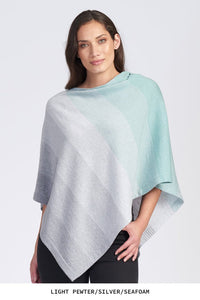 Royal Merino Graduated Stripe Ombre Poncho