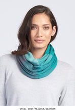 Royal Merino Graduated Stripe Infinity Scarf in Peacock