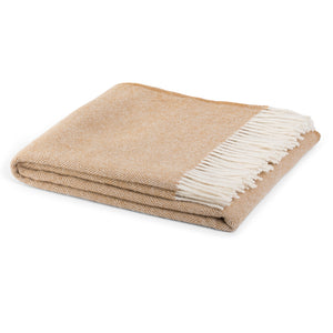 Hahei  woollen blankets by Weave Home in caramel