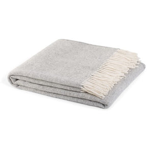 Hahei  woollen blankets by Weave Home in Fog