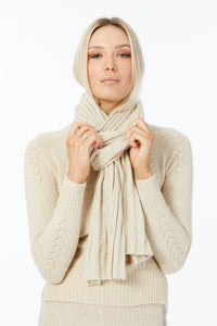 Elka Heart Yoke Jumper in Ivory