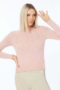Elka Heart Yoke Jumper in Veneta Pink