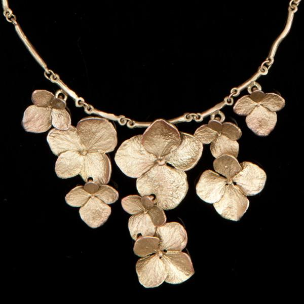 Michael Michaud Hydrangea Contour Necklace