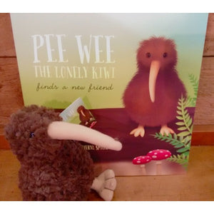 Pee Wee The Lonely Kiwi Finds A New Friend Book and Toy