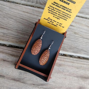 Heartwood Oval earrings