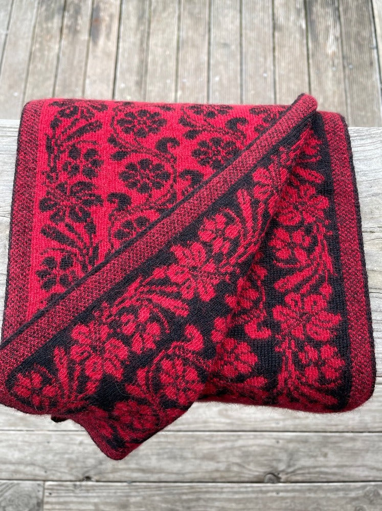 Jacobean Scarf Poppy by Noble Wilde