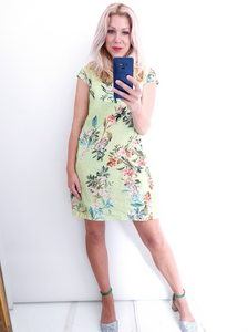 Small Kennedy dress in light lime by Helga May
